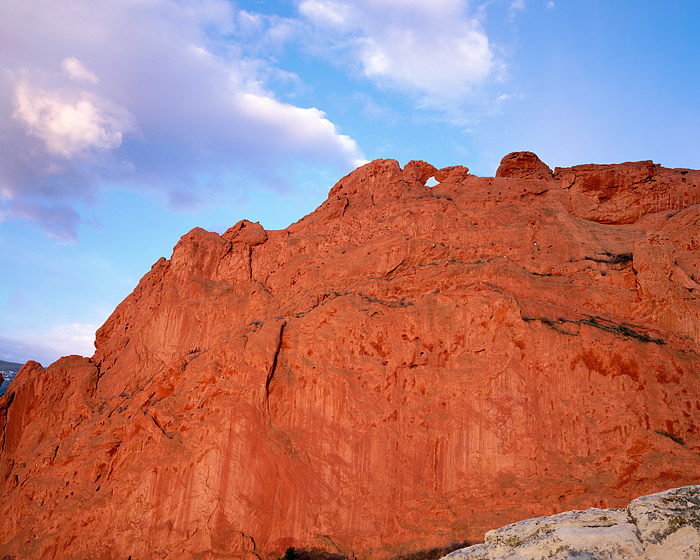 Garden of the Gods in Colorado Springs features fascinating red rock formations. One of the more well known formations in Garden...