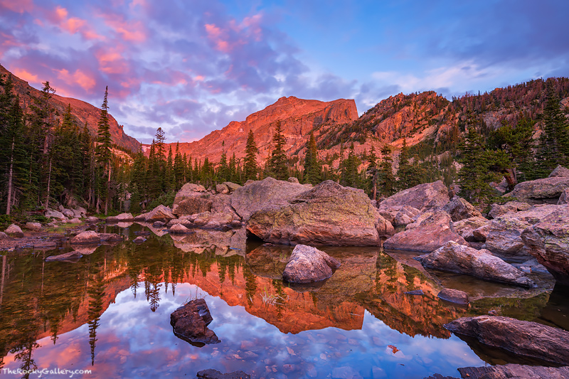 Colorado,Rocky Mountain National Park,Lake Haiyaha,Bear Lake,Hallett Peak,estes park,RMNP,Bear Lake Road,Trailhead,Landscape,Photography,reflections,August, photo
