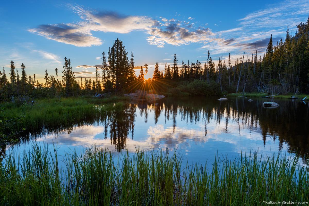 Rocky Mountain National Park,Colorado,RMNP,Estes Park,Glacier Gorge,Bear Lake,Trailhead,Landscape,Photography,Sunrise,Tarn,Reflection,Lake Haiyaha,August,Summer, photo