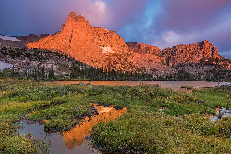 Lake Helene,Notchtop Mountain,Gabletop Mountain,Rocky Mountain National Park,Colorado,Estes Park,RMNP,Bear Lake Trailhead,reflections,sunrise,autumn, photo