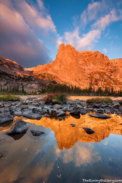 Rocky Mountain National Park, Colorado, Lake Helene, Notchtop Mountain, Bear Lake,Trailhead,RMNP,Hike,Sunrise,Landscape,Photography,Estes Park, photo