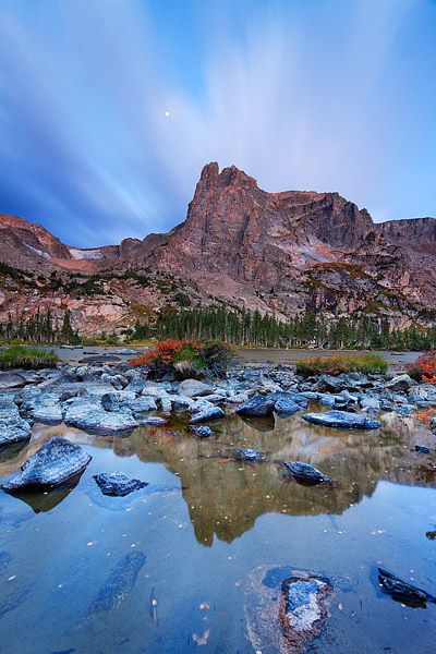 Lake Helene,Notchtop,Rocky Mountain National Park,Colorado,clouds,reflection,photograph,morning,spectacular,nature,clouds,autumn, photo