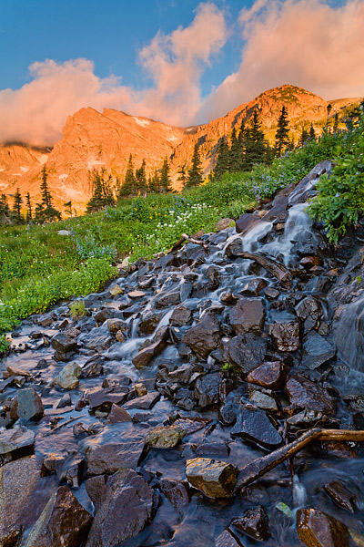 Boulder, Indian Peaks Wilderness, Shoshone Peak, Brainard Lake, photo