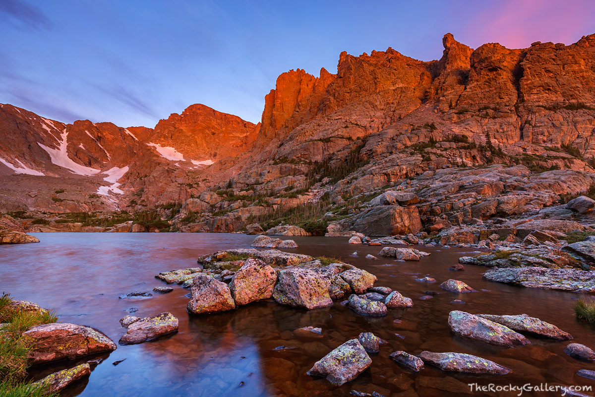 Lake of Glass,Taylor Peak,The Sharkstooth,Petit Grepon,Sunrise,RMNP,Colorado,Rocky Mountain National Park,Estes Park,Bear Lake Road,Glacier Gorge Trailhead,Loch Vale,Landscape,Photography,Timberline F
