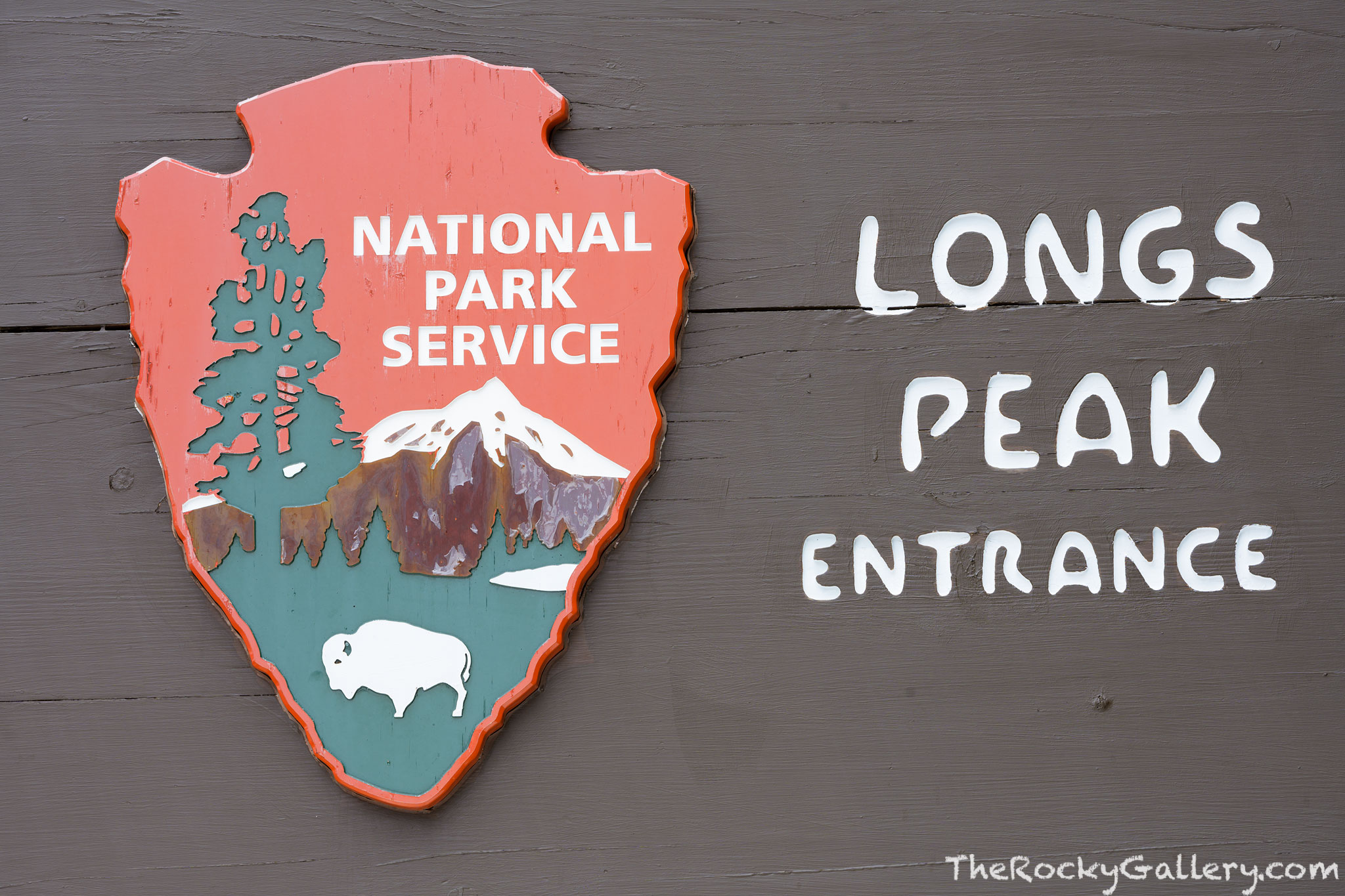 Longs Peak Trailhead,Longs Peak,Sign,Entry,Tahosa Valley,Highway 7,Hiking,Climbing,Colorado,14er,RMNP,Rocky Mountain National Park,Photography,Landscape,hand of man,NPS,Nationaln Park Service, photo