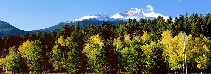 Rocky Mountain National Park, Colorado, Aspens, Longs Peak, photo