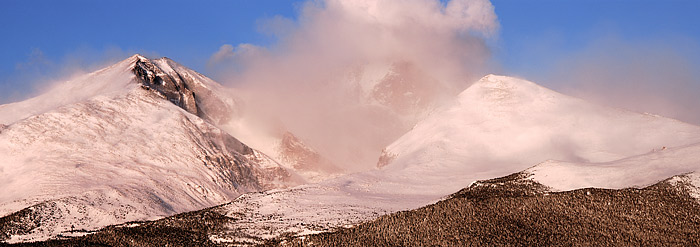Longs Peak, Rocky Mountain National Park, Mt. Meeker, Colorado, Tahosa Valley, Winter, photo