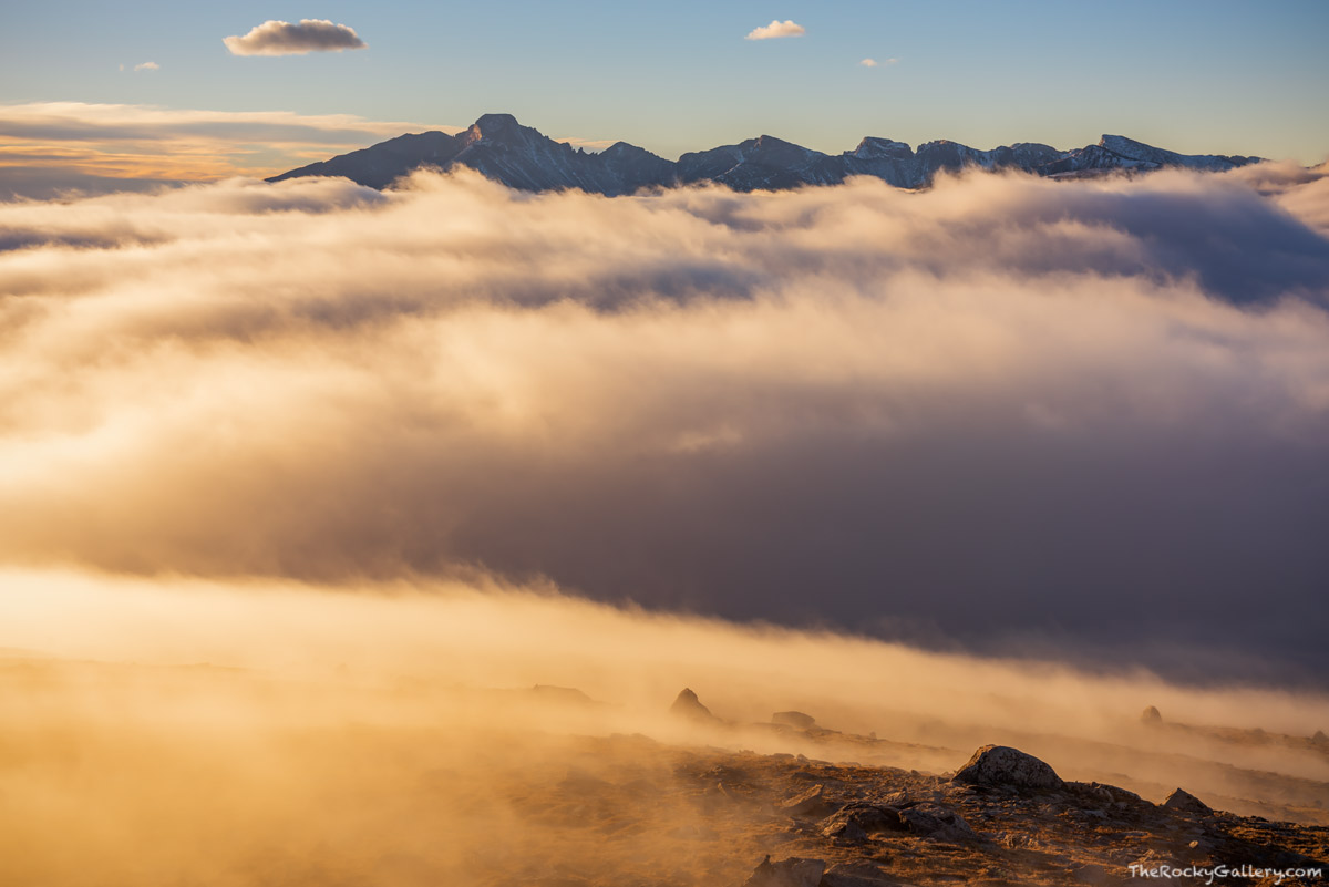 Longs Peak, Trail Ridge Road, RMNP,Estes Park,Grand Lake, Rocky Mountain National Park,Inversion,Sunrise,Colorado,Landscape,Photography,14,259,fog,tundra,alpine, photo