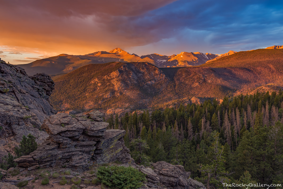 Longs Peak,Hallet Peak,Taylor Pea,Chiefs Head Peak,Sunrise,July,Upper Beaver Meadows,Estes Park,RMNP,Colorado,Rocky Mountain National Park,Landscape,Photography,steep mountain,overlook, photo