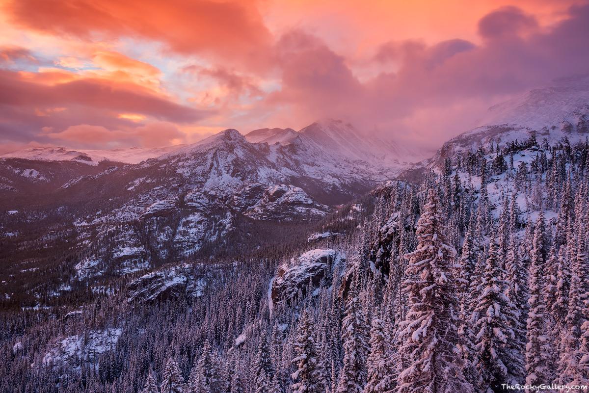 Rocky Mountain National Park,Colorado,Bear Lake,RMNP,Longs Peak,Glacier Gorge,Snow,Storm,Winter,Estes Park,Landscape,Photography,Lake Haiyaha,pines,sunrise,Bear Lake Road,Trailhead,October,Mills Lake, photo