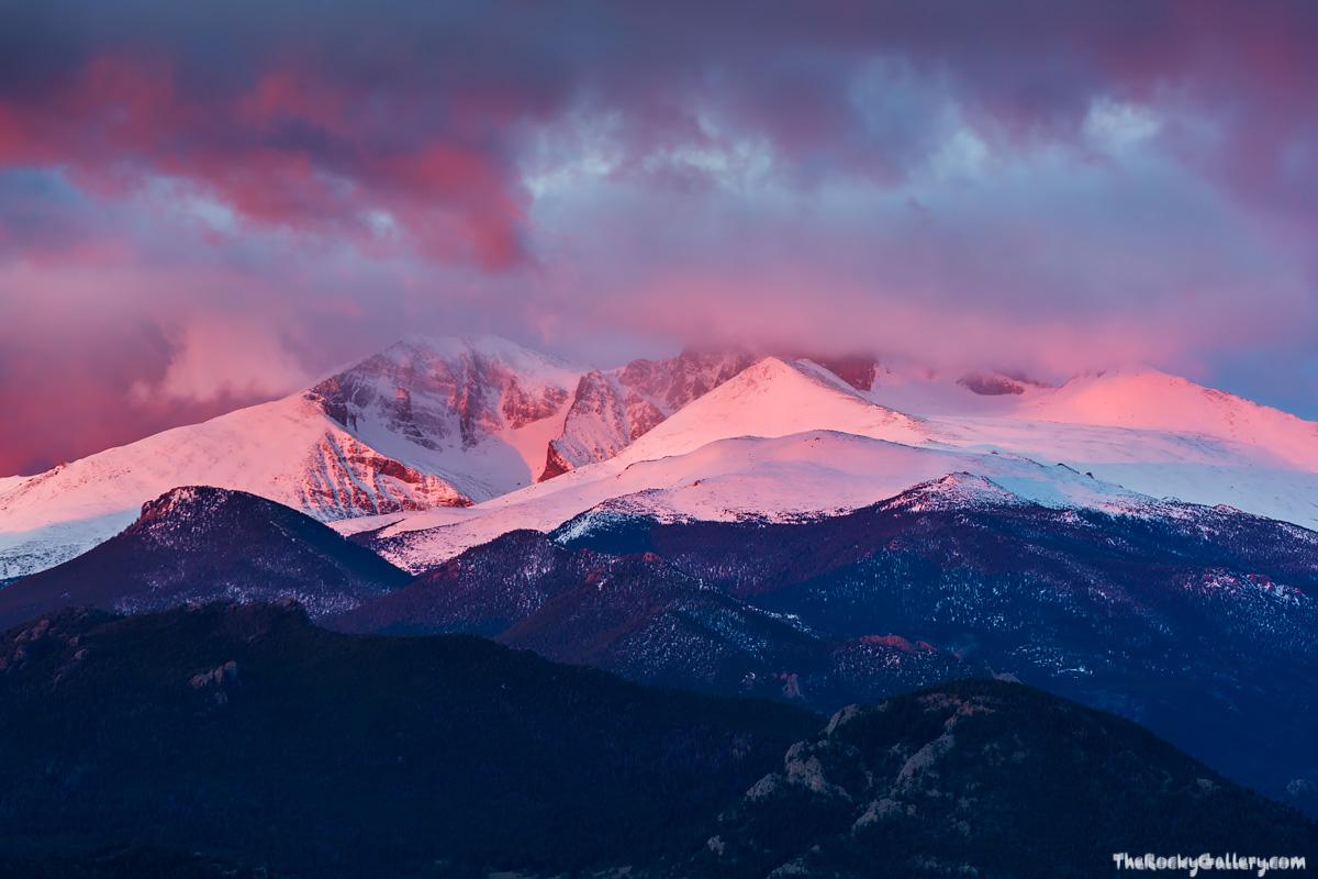 Lumpy Ridge,Longs Peak,Mount Meeker,Sunrise,Snow,Snowline,Snow,May,Landscape,Photography,Rocky Mountain National Park,Colorado,Dramatic,Valley,Estes Park,RMNP,14,259, photo
