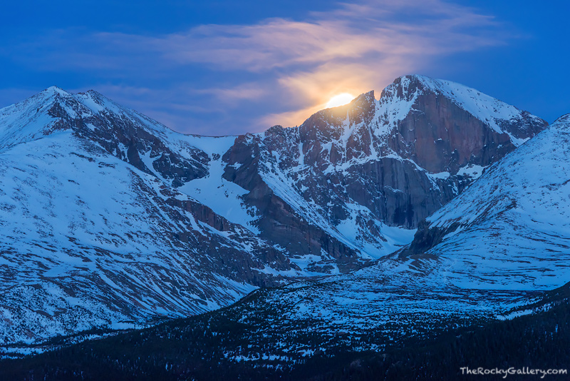 Longs Peak,Moonset,Tahosa Valley,14,259ft,June,RMNP,Estes Park,Colorado,Rocky Mountain National Park,Landscape,Photography,Twin Sisters,Highway 7,Mount Meeker, photo