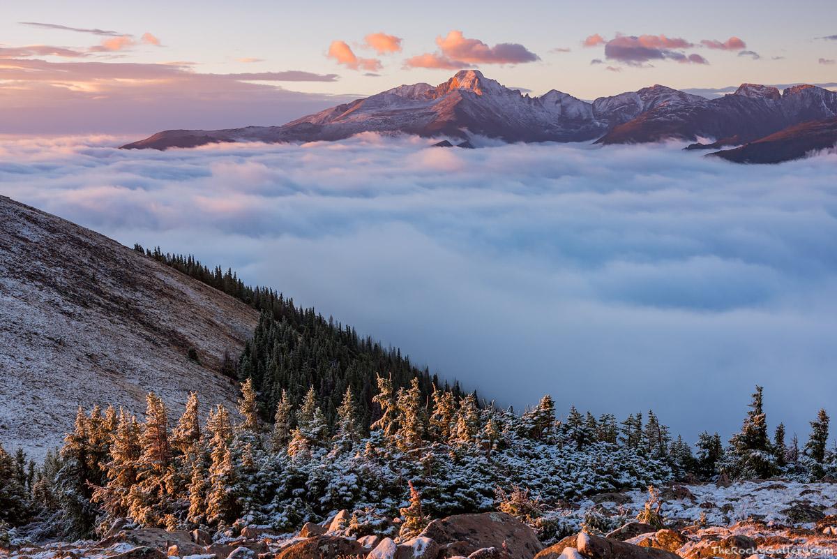 Inversion,Rocky Mountain National Park,Colorado,Trail Ridge Road,Ute Trail,Forest Canyon,September,Landscape,Photography,Longs Peak,RMNP,Estes Park,Sunrise,Front Range