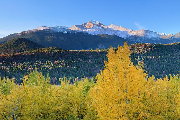 Longs Peak, Moraine Park, The Diamond,Fall,Rocky Mountain National Park, Colorado,snow,transistions,Aspen, photo
