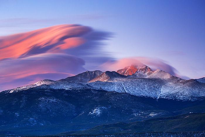 Longs Peak,Lenticular,Wave,Colorado,Rocky Mountain National Park,winds, photo