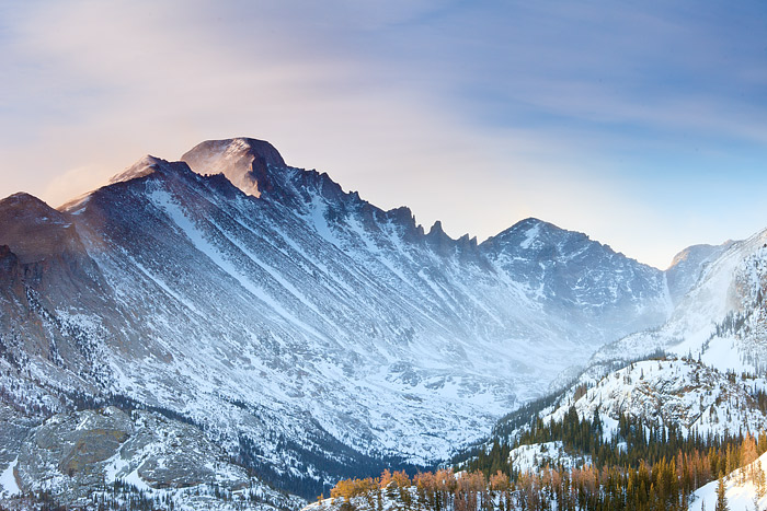 Rocky Mountain National Park, Colorado, Longs Peak, Winter, McHenry Peak, photo