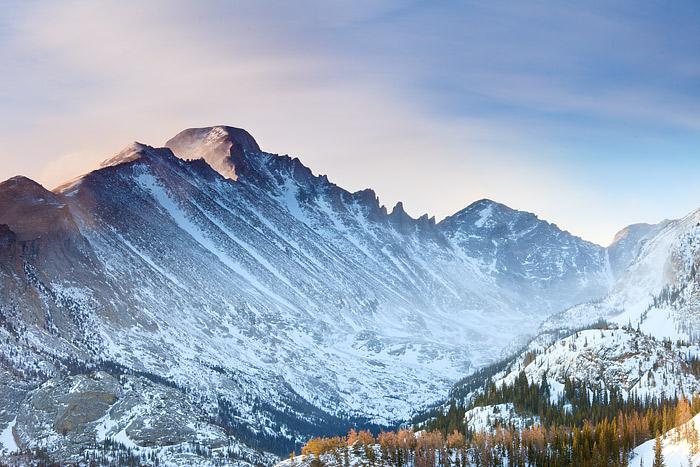 Rocky Mountain National Park, Colorado, Longs Peak, Winter, McHenry Peak, photo