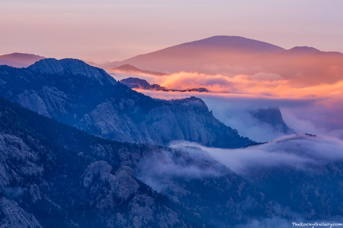 Lumpy Ridge,Fog,sunrise,Rocky Mountain National Park,Colorado,estes park,RMNP,Landscape,Photography , photo