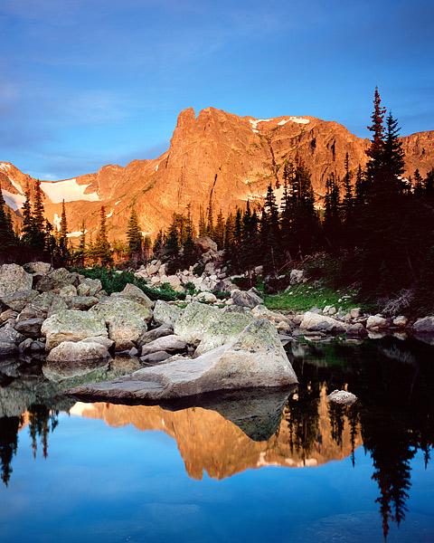 Rocky Mountain National Park, Colorado, Notchtop Mountain, Marigold Ponds, Two Rivers Lake, Bear Lak, photo