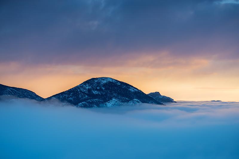 McGregor Mountain,Rocky Mountain National Park,Colorado,RMNP,Estes Park,Trail Ridge Road,Winter,Snow,Inversion,Landscape,Photography,Trail Ridge Road, photo