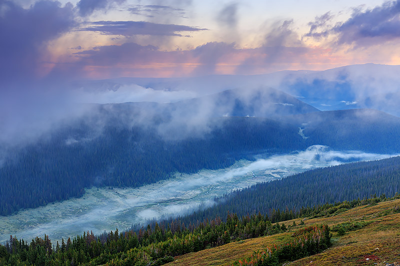 Cache La Poudre,Headwaters,Estes Park,Grand Lake,RMNP,Trail Ridge Road,Medicine Bow Curve,Fog,Sunrise,Rivers,Seasons,Rocky Mountain National Park,Colorado , photo
