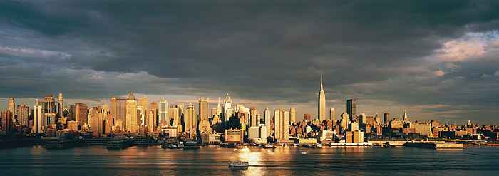 Midtown, Manhattan, Empire State Building, New York, New Jersey, Hudson River, photo