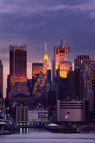 New York City, Hudson river, Manhattan, Midtown, Chrysler Building, photo