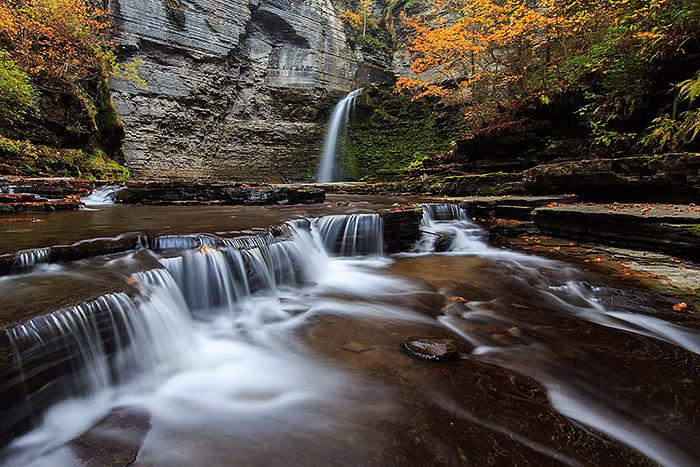 Eagle Cliff Falls,New York,Havana Glen,Montour Falls,waterfall,autumn, photo
