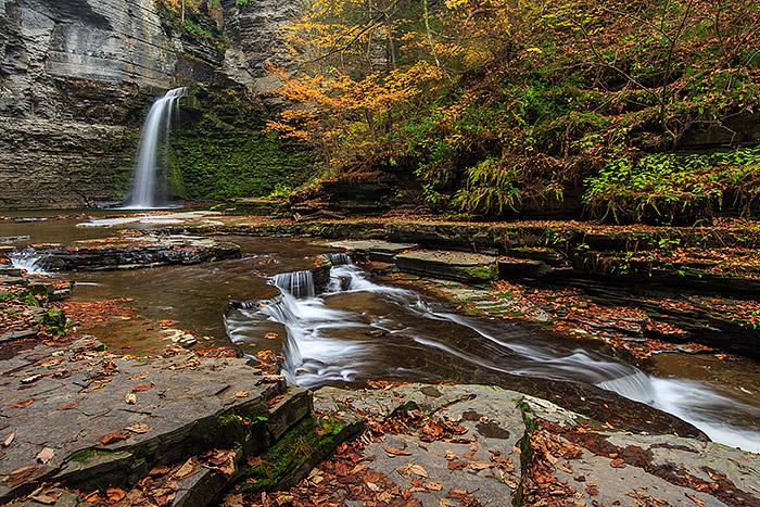 Eagle Cliff Falls,Montour Falls,New York,Streams,Autumn,fall, photo