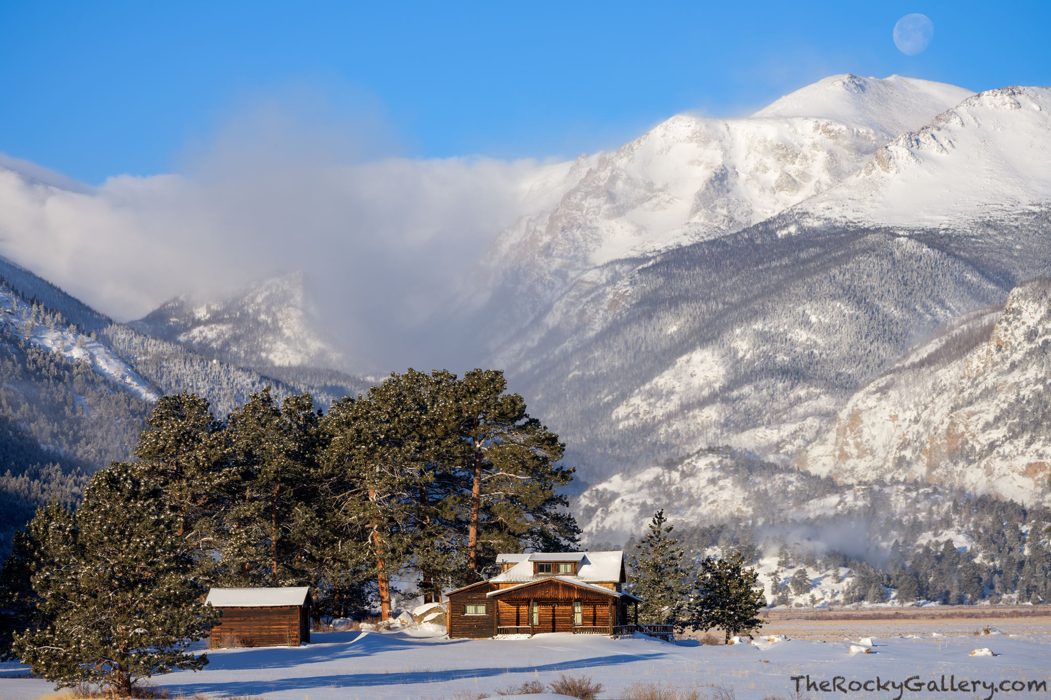 A few inches of fresh snow has fallen over Moraine Park on a cold February morning in Rocky Mountain National Park. My truck...