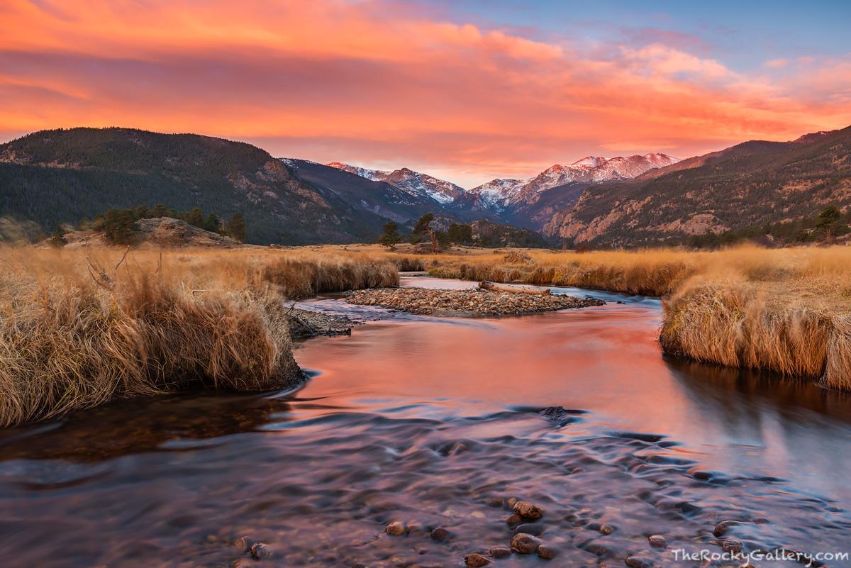 Moraine Park,Big Thompson River,RMNP,Estes Park,Bear Lake Road,November,Fall,Autumn,Sunrise,Rocky Mountain National Park,Colorado,Landscape,Photography,Elk,rut,meadows , photo