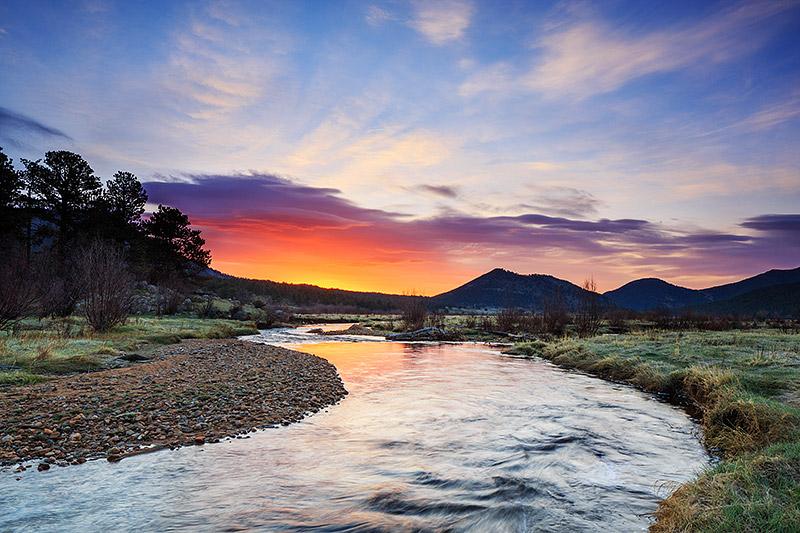 Rocky Mountain National Park,Colorado,rmnp,estes park,moraine park,sunrise,big thompson,spring,trout,fishing, photo
