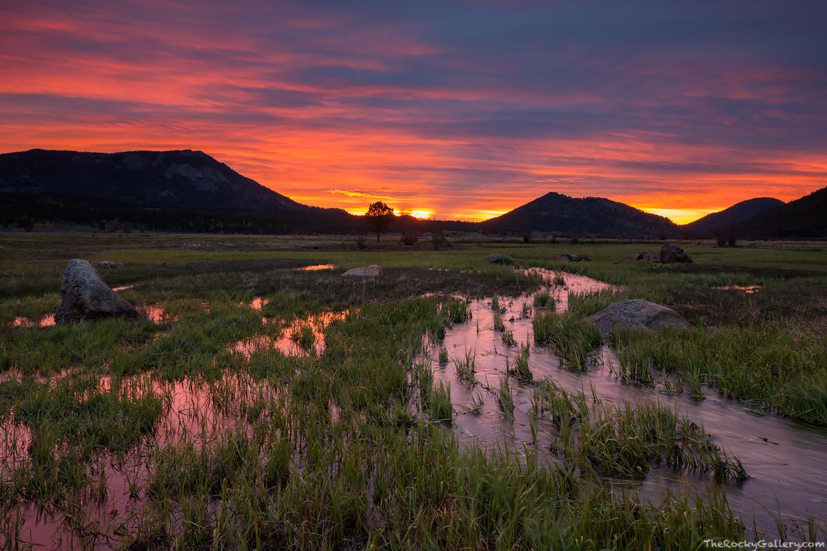 Moraine Park,rmnp,rocky mountain national park,colorado,cub creek,big thompson river,estes park,sunrise,deer mountain,eagle cliff mountain,RMNP,Landscape,Photography,Trailhead, photo