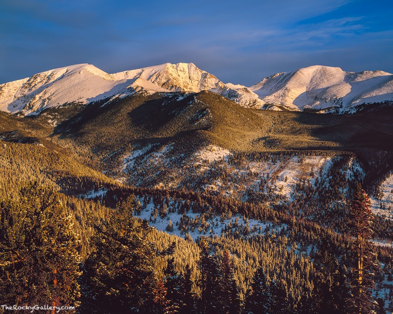 Rocky Mountain National Park, Mummy Range, Estes Park, Trail Ridge Road, Snow, Colorado,RMNP,Ypsilon Mountain,Fairchild Mountain,Mount Chaquita, landscape,photography,large format,film,sunrise , photo