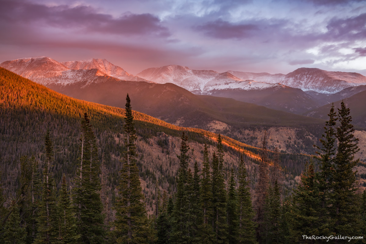Mummy Range,Ypsilon Mountain,October,Sunrise,Trail Ridge Road,Estes Park,Colorado,Landscape,Photography,RMNP,Rocky Mountain National Park,Snow Squalls,Dramatic , photo