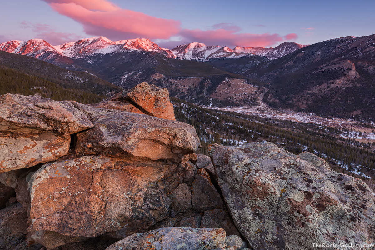 Mummy Range,Ypsilon Mountain,Horseshoe Park,Chapin,Chiquita,Alluvial Fan,Sunrise,February,RMNP,Fall River Road,Estes Park,Colorado,Rocky Mountain National Park,Landscape,Photography,Fairchild Mountain, photo