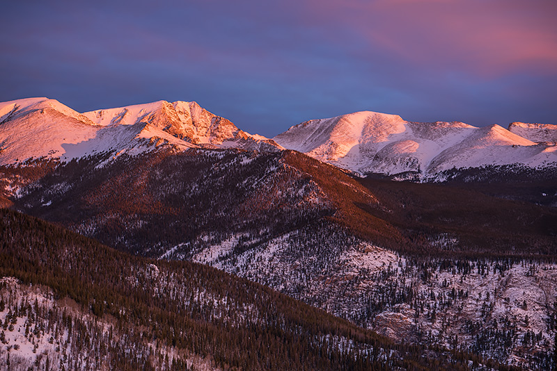 Mummy Range,Rocky Mountain National Park,Colorado,Estes Park,Trail Ridge Road,RMNP,Snow,Winter,January,sunrise,Photography,Landscape,Mt Ypsilon, photo