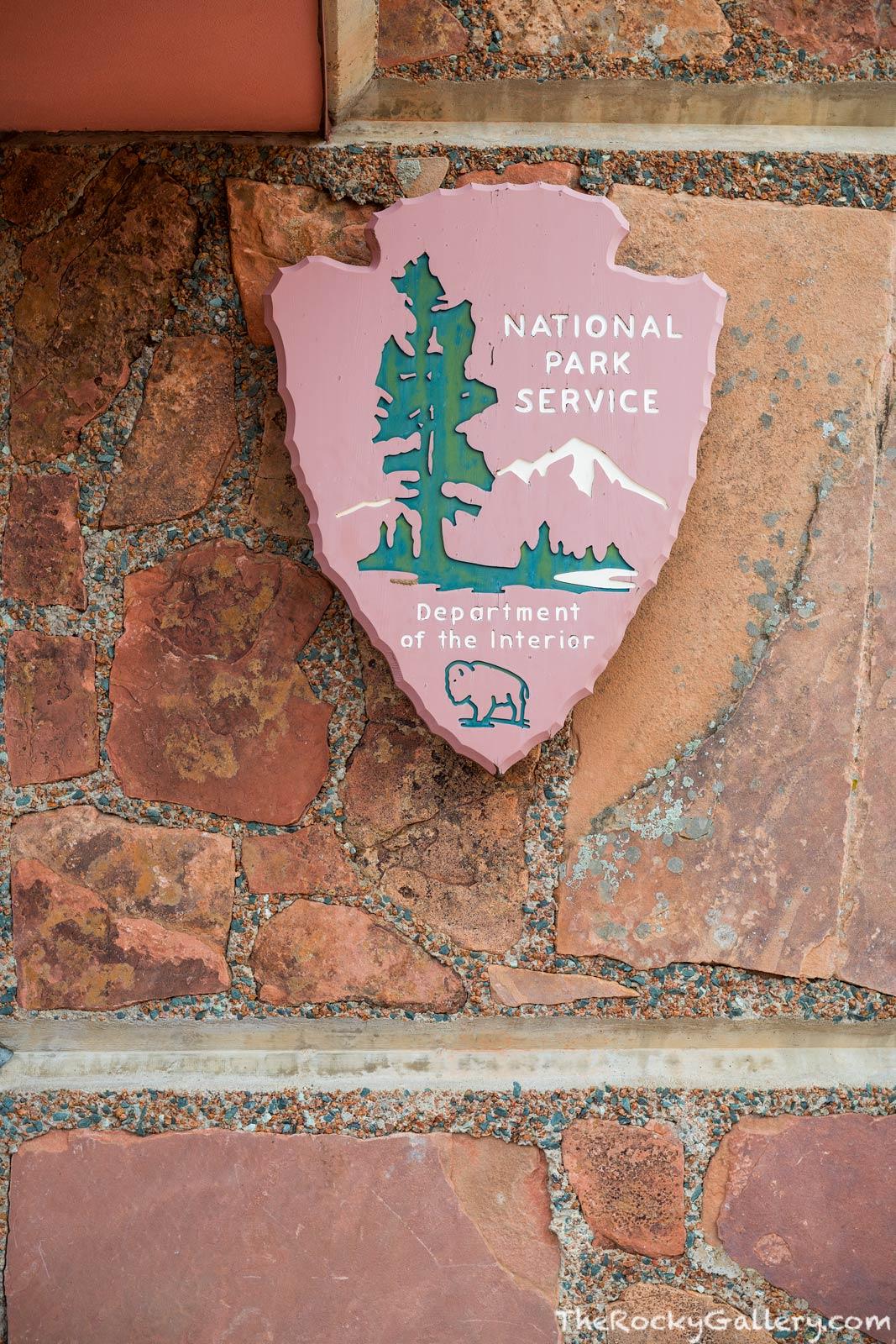 NPS,National Park Service,Signage,Symbol,Arrowhead,Beaver Meadows Visitor Center,Frank Lloyd Wright,RMNP,Estes Park,Trail Ridge Road,Colorado,Rocky Mountain National Park,Landscape,Photography,Protect, photo