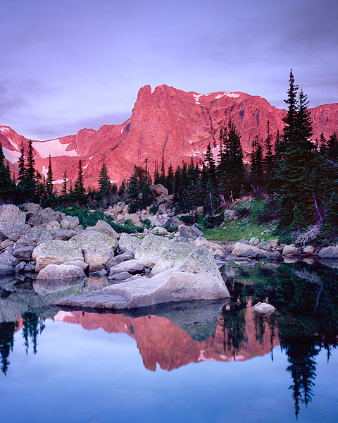 Rocky Moutain National Park, Notchtop Mountain, Two Rivers Lake, Estes Park, Bear Lake, Colorado, photo