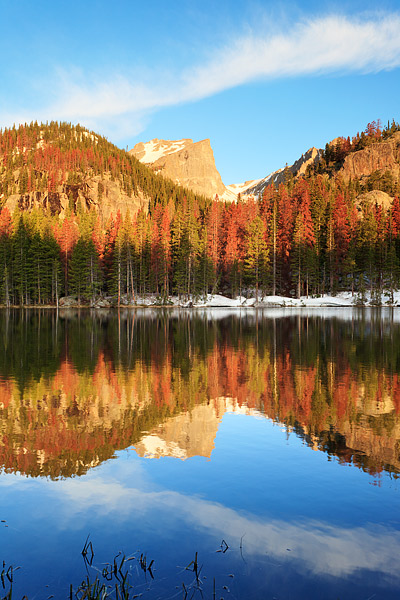 Rocky Mountain National Park, Colorado, Nymph Lake, Hallet Peak, Dream Lake, photo
