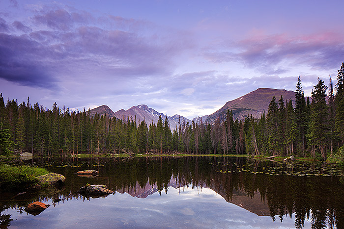 Rocky Mountain National Park,Colorado,Nymph Lake,Longs Peak, photo
