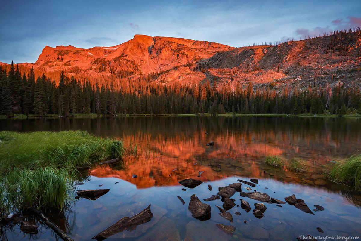 Ouzel Lake, Wild Basin,RMNP,Rocky Mountain National Park,Mahana Peak,Sunrise,Reflection,Colorado,September,Estes Park,Allenspark,mountains , photo
