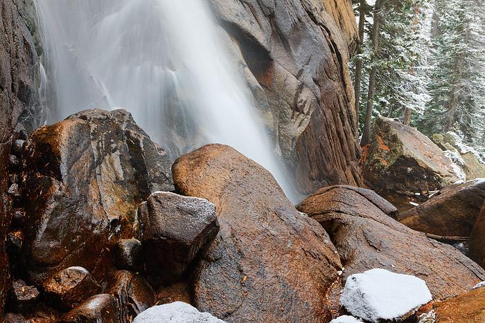 Wild Basin,Ouzel Falls,Snow,Autumn,Rocky Mountain National Park,North Saint Vrain,Colorado, photo