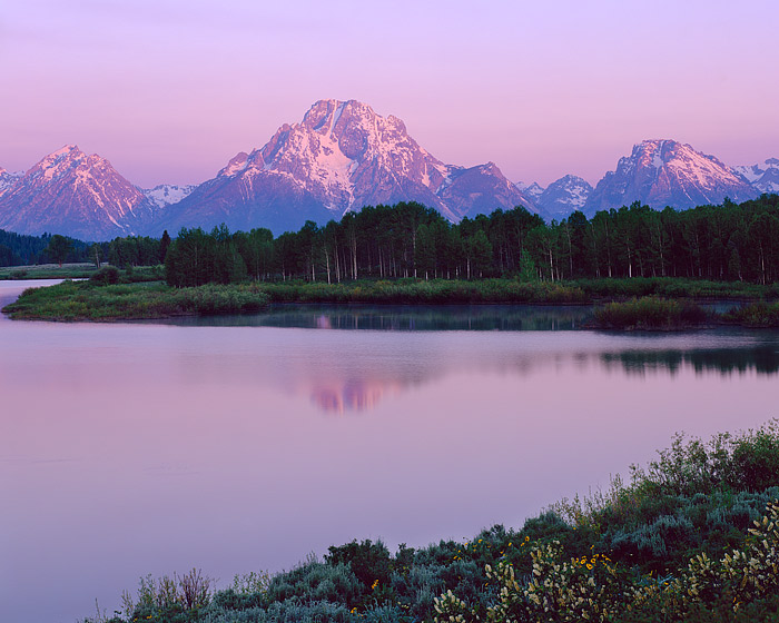 Oxbow Bend, Grand Teton National Park, Mt. Moran, Snake River, photo