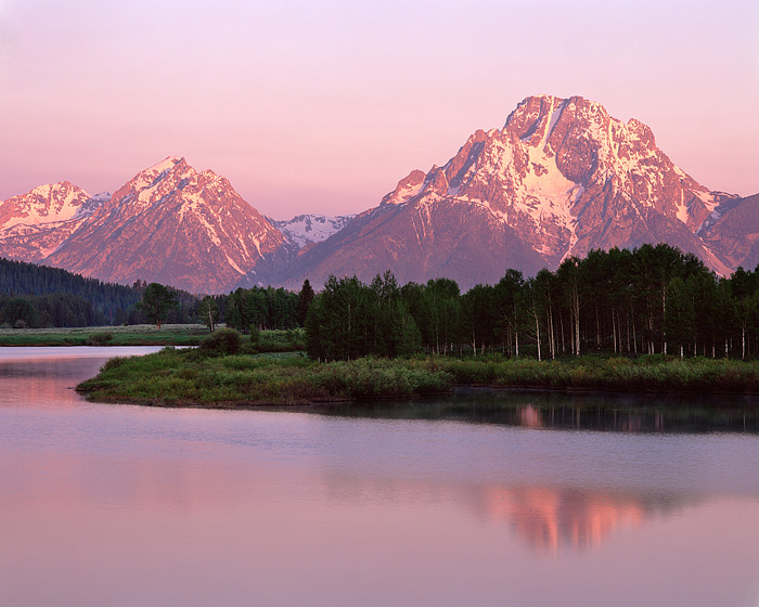 Wyoming, Grand Teton National Park, Oxbow Bend, Snake River, Mt. Moran, photo