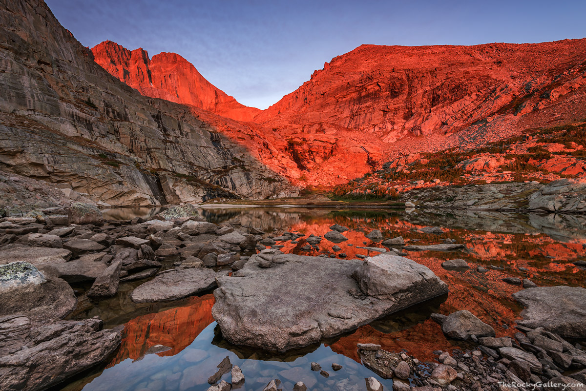 Longs Peak,Peacock Pool,Estes Park,RMNP,Rocky Mountain National Park,Longs Peak Trailhead,Colorado,Fourteener,Landscape,Photography,Sunrise,Reflection,September,Chasm Lake, photo