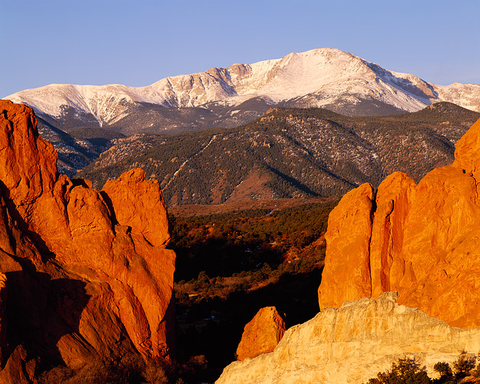 Pikes Peak, Garden of the Gods, Gateway Rock, Colorado Springs, Colorado, photo