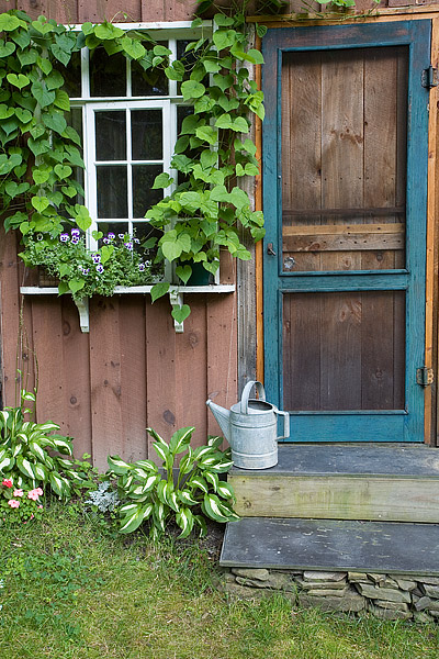 Potting Shed, Elmira, Finger Lakes, New York, Windows, photo