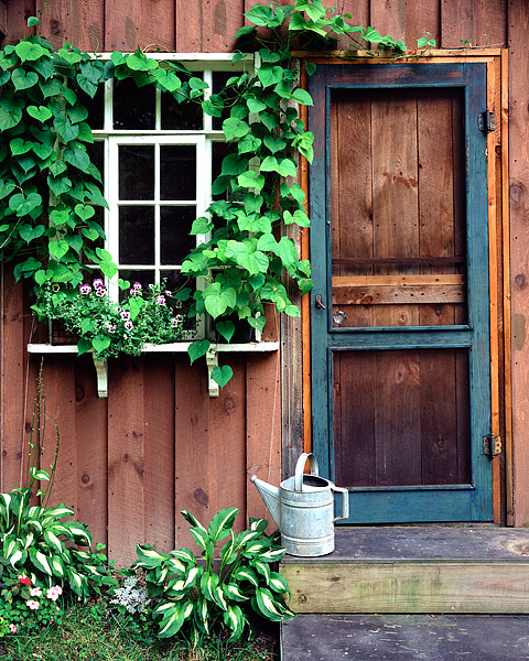 Finger Lakes, New York, Upstate, Elmira, Windows, Potting Shed, photo