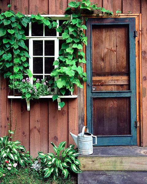 Finger Lakes, New York, Upstate, Elmira, Windows, Potting Shed, photo